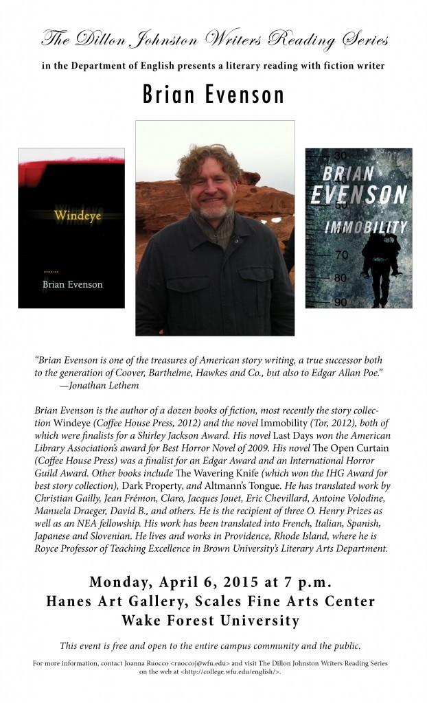 Brian Evenson Poster