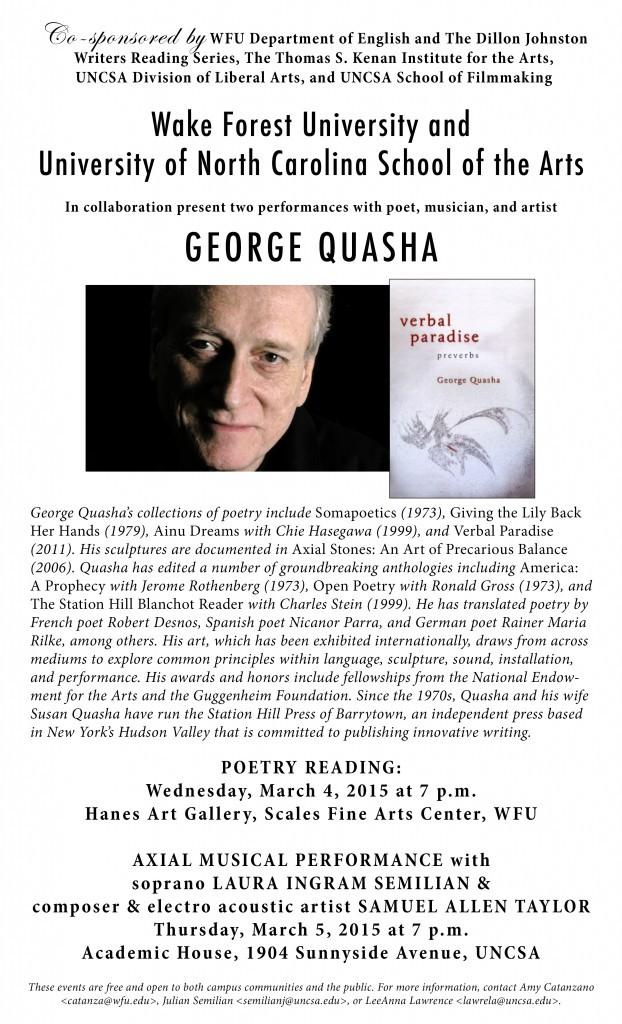 George Quasha Poster 022015