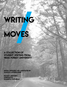 Cover of Writing Moves 2016-2017 magazine