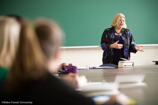 Dr. Sigal teaching a graduate seminar